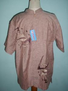 Baju Koko Bordir Marun